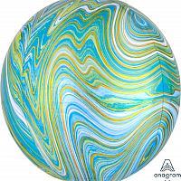 "Marblez Orbz - 16"" - Blue & Green"