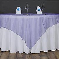 "Table Overlay - Organza - Purple 70"" x 70"""
