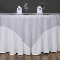 Table Overlay - Organza - Lavender 72' x 72""