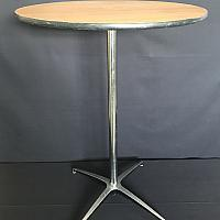 "Round Table, 30"" - Wood  - 42"" Height"