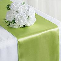 Table Runner - Satin - Apple Green