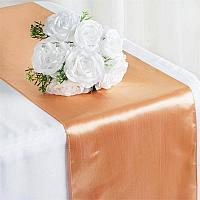 Table Runner - Satin - Peach