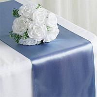 Table Runner - Satin - Serenity Blue
