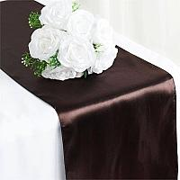Table Runner - Satin - Chocolate
