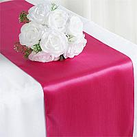 Table Runner - Satin - Fuchsia