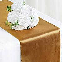 Table Runner - Satin - Gold