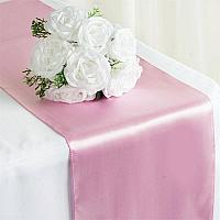 Table Runner - Satin - Pink