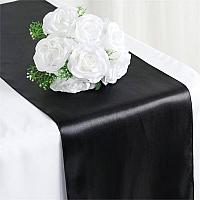 Table Runner - Satin - Black