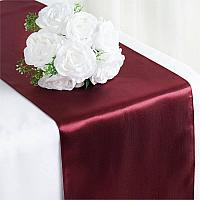 Table Runner - Satin - Burgundy