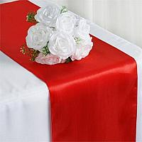 Table Runner - Satin - Red