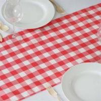 Table Runner - Gingham - Red