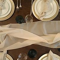Table Runner, Sheer - Champagne