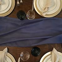 Table Runner, Sheer - Navy