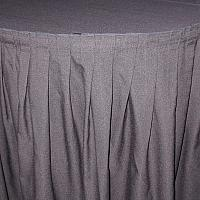 13' Black Table Skirt