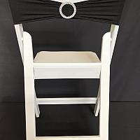 Spandex Chair Band w/ Buckle - Black