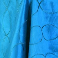 "Table Overlay - Raw Silk -Bermuda Blue 70"" x 70"""