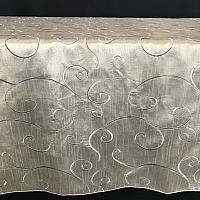 "Table Overlay - Raw Silk - Silver 70"" x 70"""
