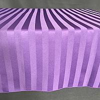 "Table Overlay - Striped Satin - Eggplant 72"" x 72"""