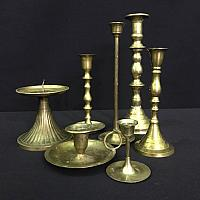 Candlesticks - Brass - Assorted sizes