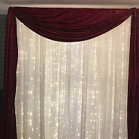 Backdrop Valance - Burgundy Velvet