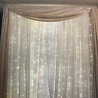 Backdrop Valance - Ivory Velvet