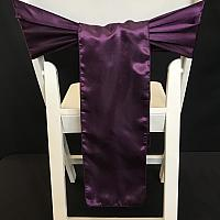 Chair Tie - Silk - Eggplant