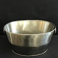 Beverage Tub - Hammered Steel Bottom