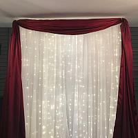 Backdrop Valance - Satin - Burgundy 45'