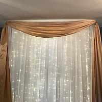 Backdrop Valance - Satin - Gold 45'
