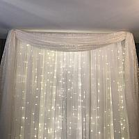 Backdrop Valance - Lace - Ivory 18'