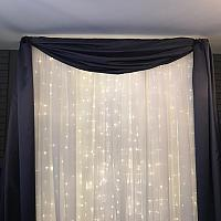 Backdrop Valance - Satin - Mauve 45'