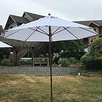 White Market Patio Umbrella & Base