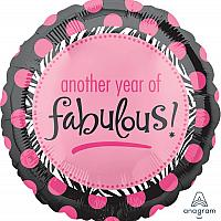 "Mylar 18"" - Another Year of Fabulous"
