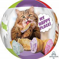 """Mylar 16"""" - Cat Cupcake - Orbz"""