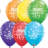 "Balloon - 11"" Latex - Birthday Confetti Dots"