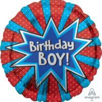 """Mylar - 18"""" - Birthday Boy Burst"""