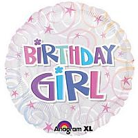 "Mylar - 18"" - Birthday Girl"