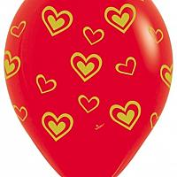 "11"" Latex - Gold Hearts"