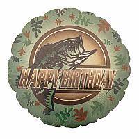"""Mylar 18"""" - Birthday Bass"""