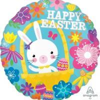 "Mylar - 18"" - Bunny Happy Easter"