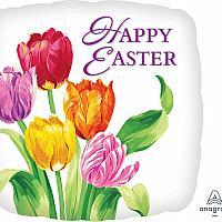 "Mylar - 18"" - Tulips Happy Easter"