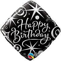 """Mylar - 18"""" - Elegant Happy Birthday"""