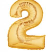 "Mylar - 40"" - Gold Number - #2"
