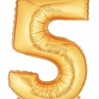 """40"""" Mylar - Gold - 5"""