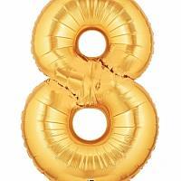 """40"""" Mylar - Gold - 8"""