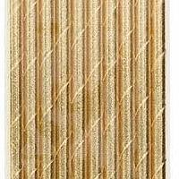 Paper Straws - Gold Metallic