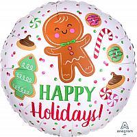 """Mylar - 18"""" Happy Holidays"""
