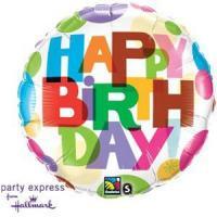 """Mylar - 18"""" - Happy Birthday"""