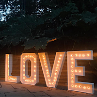 "Marquee Sign - LOVE - White 9.5'w x 41"" h"