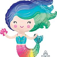 """Mylar - 30"""" - Mermaid Supershape"""